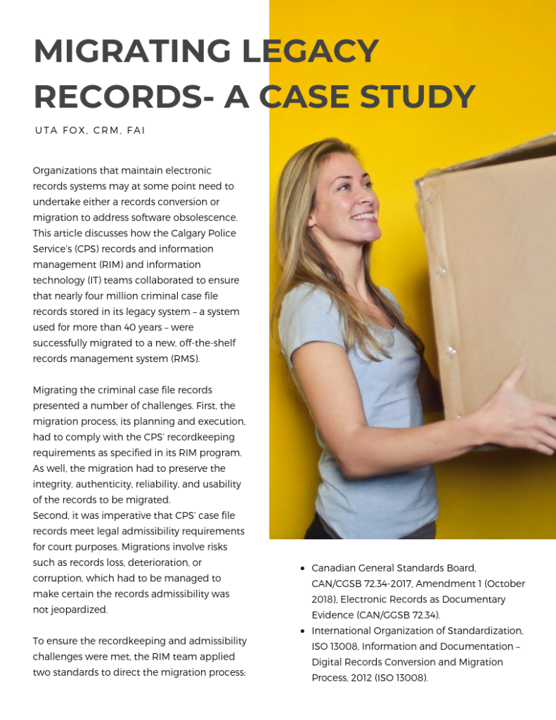 Migrating Legacy Records – a Case Study