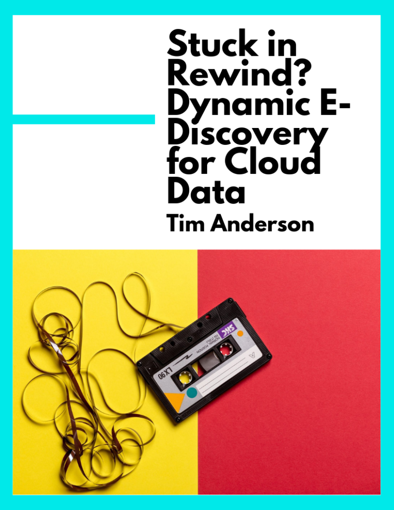 Stuck in Rewind? Dynamic E-Discovery for Cloud Data (PDF)