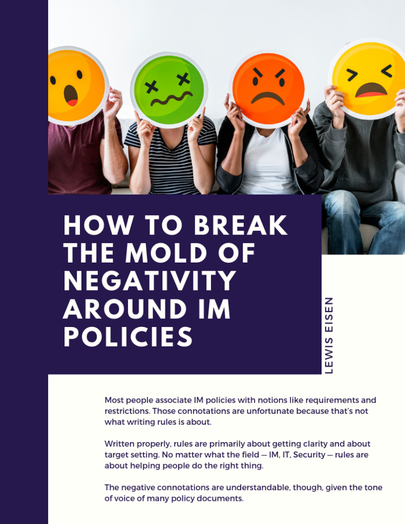 How to Break the Mold of Negativity Around IM Policies