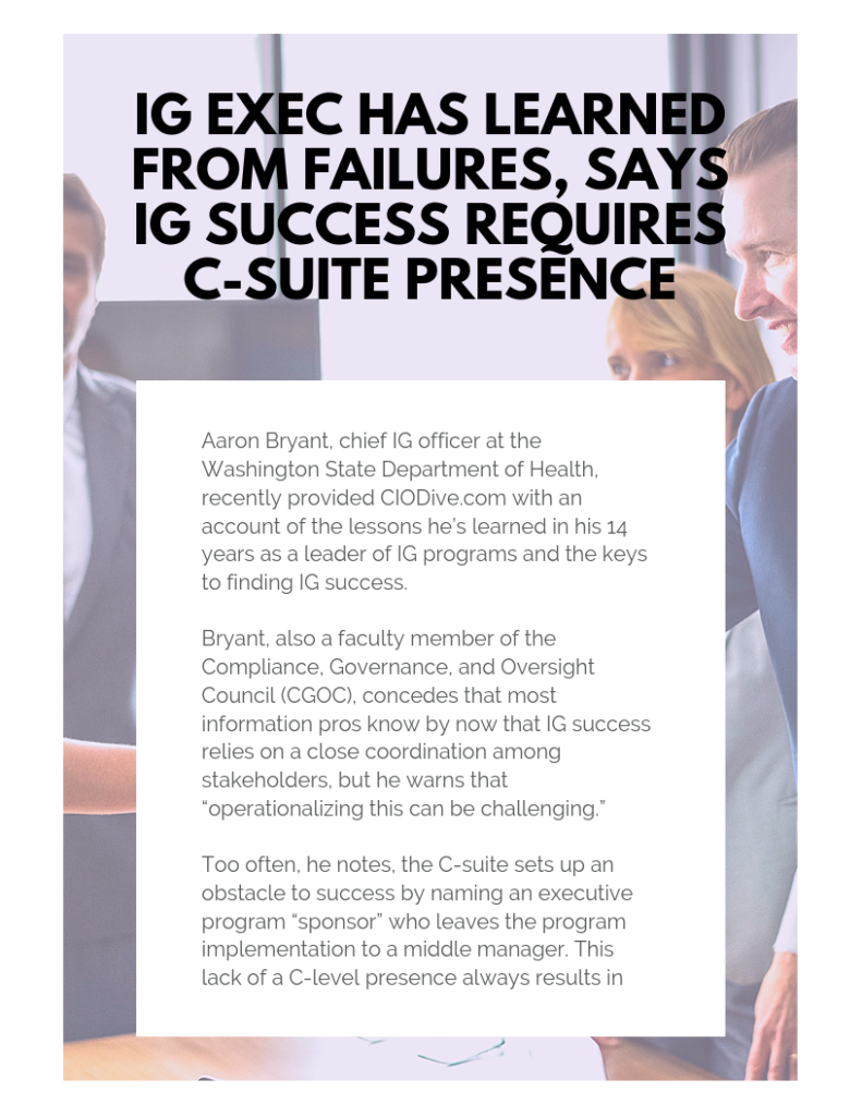 IG Exec Has Learned From Failures, Says IG Success Requires C-Suite Presence